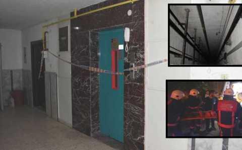 Трос лифта оборвался из-за 3 лишних пассажиров в Малатье