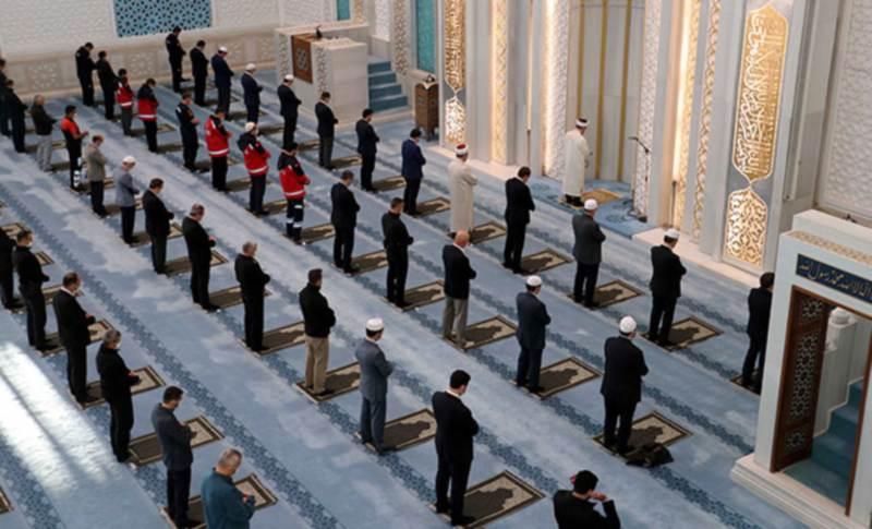 В Турции состоялся первый намаз в мечети