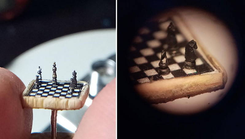 Турецкий микро-скульптор создал самые маленькие шахматы