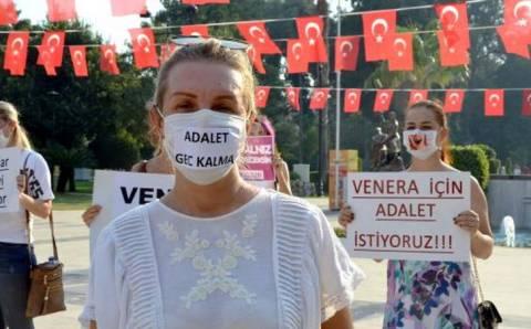 В Адане прошла акция в поддержку Венеры Каракуш