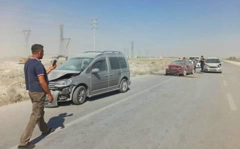 10 авто попали в ДТП из-за песчаной бури в Конье
