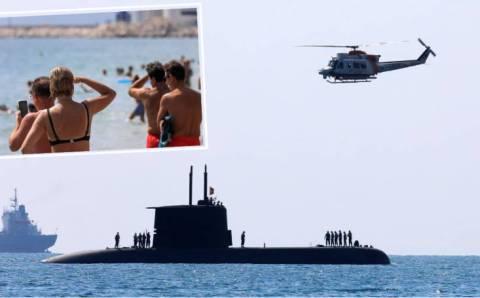Подводная лодка на 24-м пляже Коньяалты