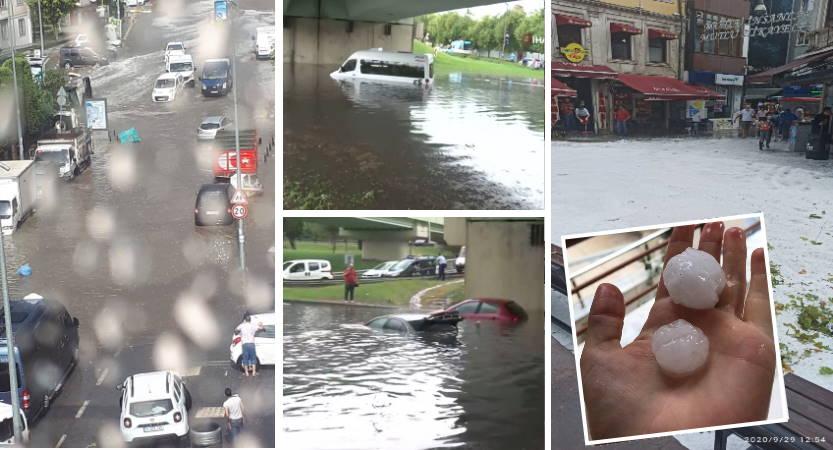 Стамбул не ожидал такого дождя с градом