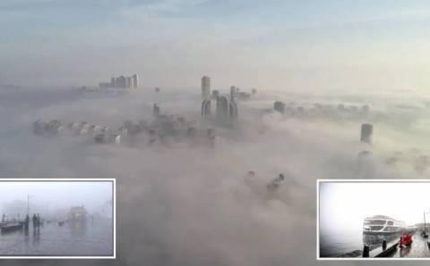 Стамбул проснулся в тумане