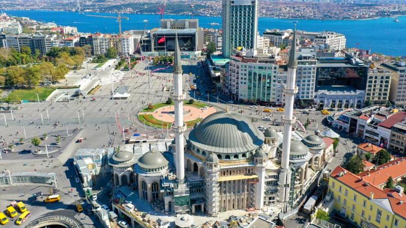 Строительство мечети Таксим подходит к завершению