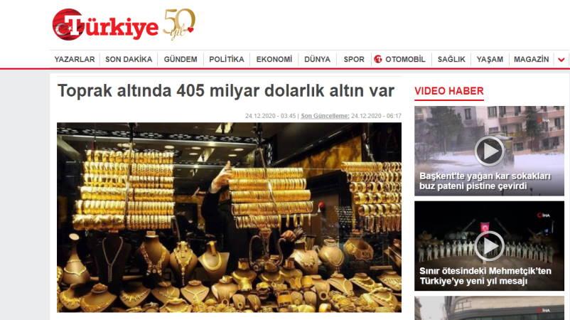 Под землей золото на 405 миллиардов долларов