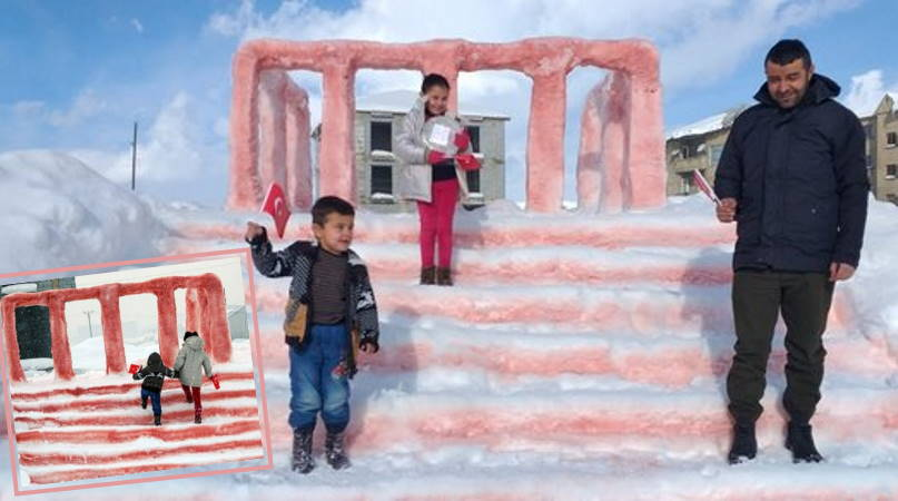 Аныткабир из снега и приглашение министра
