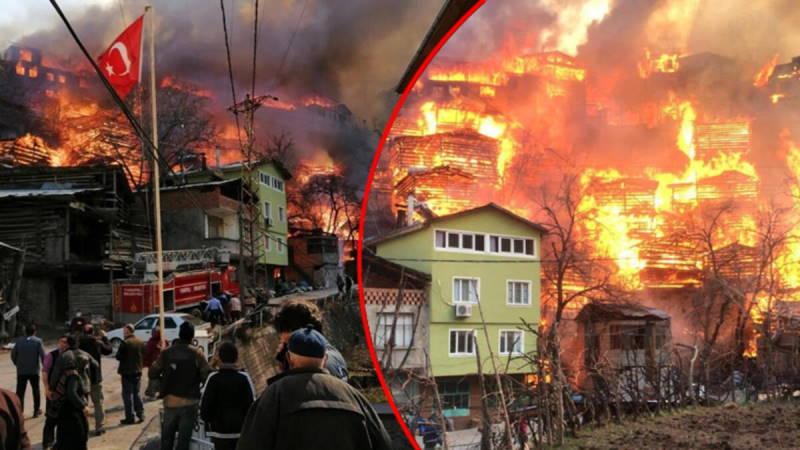 Пожар уничтожил более 50 домов в Артвине