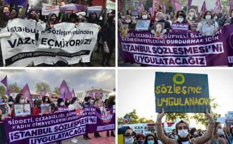Женщины протестовали по всей Турции