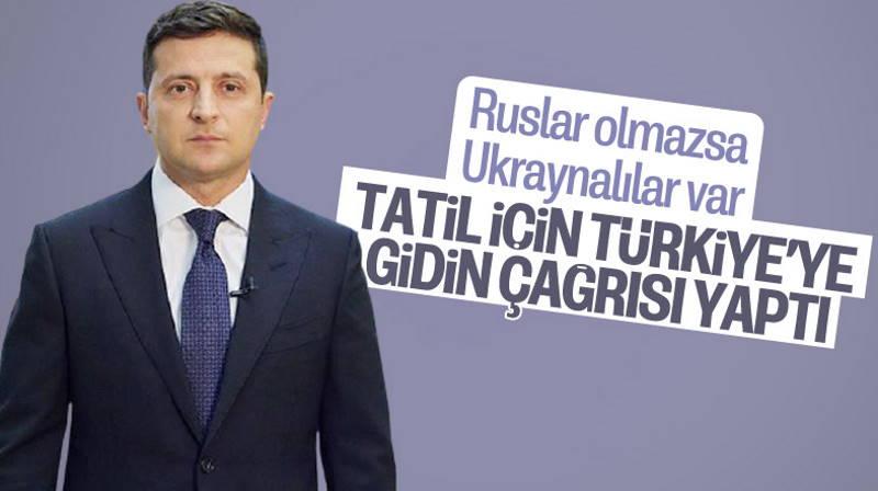 Зеленский призвал украинцев отдыхать в Турции