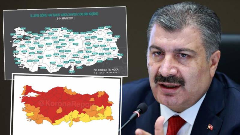 Измир, Анталья и Мугла покинули «красную зону»