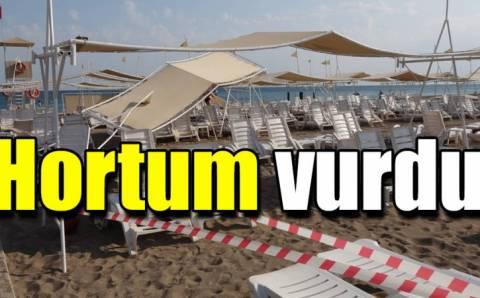 6 туристок пострадали после смерча на пляже в Анталии
