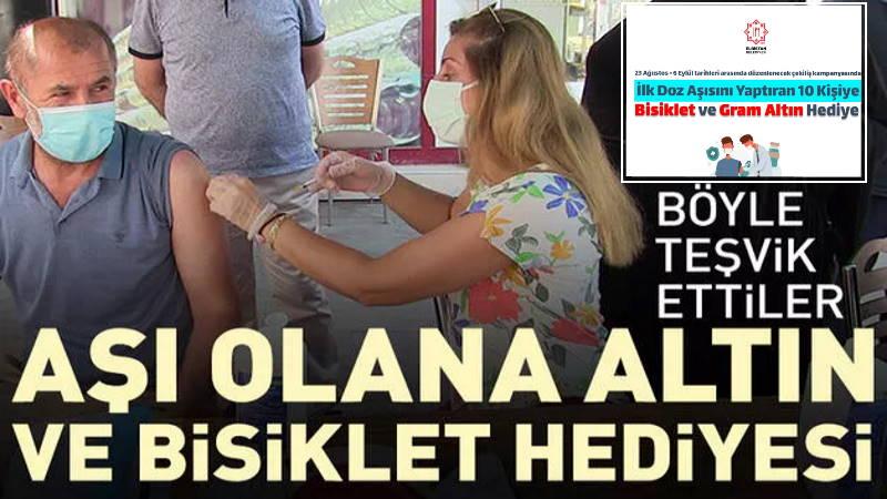 В турецком городе завлекают на вакцинацию золотом