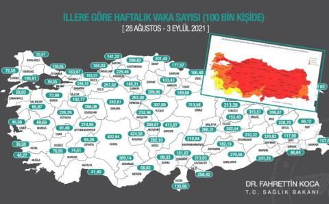 Карта заражений Минздрава: Запад и юг наиболее безопасны