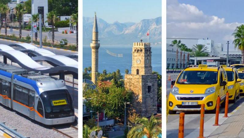 В Анталии подорожал общественный транспорт и такси