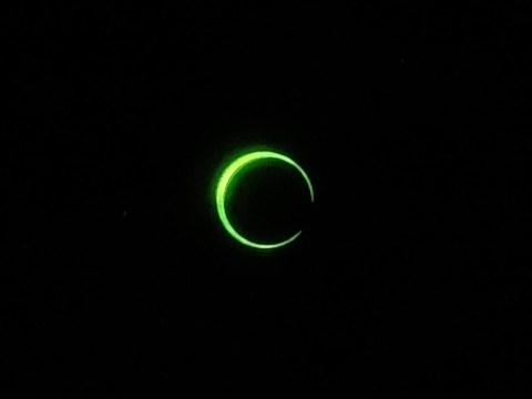 金環日食 7時31分