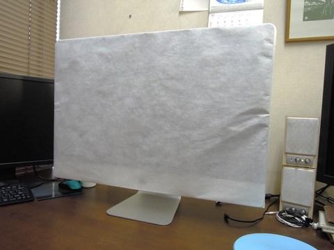 27インチiMacを付属のシートで梱包
