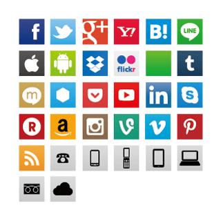【epsパスデータ】ソーシャル系ウェブサービスのロゴアイコン 一覧まとめ
