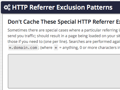 HTTP Referrer Exclusion Patterns