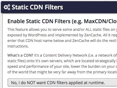 Static CDN Filters