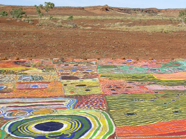 Ngurrara The Great Sandy Desert Canvas at News Aboriginal