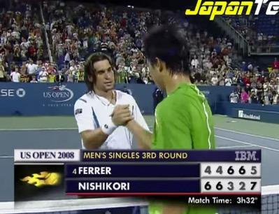 テニス錦織圭vsフェレール 全米2008 3回戦_Fotor