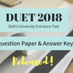 DUET 2018 question paper & answer key