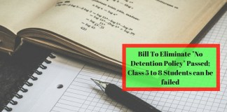 """Bill To Eliminate """"No Detention Policy"""" Passed; Class 5 to 8 Students can be failed"""