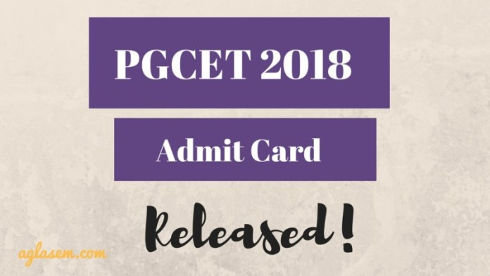 PGCET 2018 Admit Card