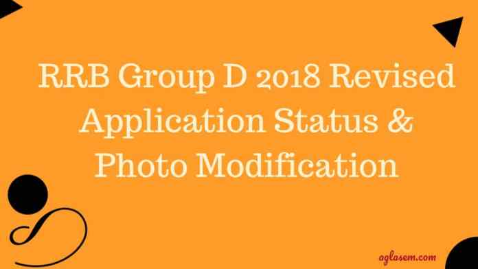 RRB Grouo D Revised Application Status