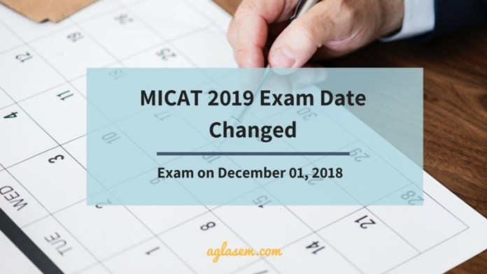 MICA Changed the MICAT 2019 Date