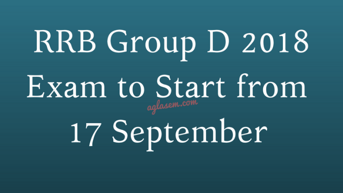 RRB Group D 2018 Exam