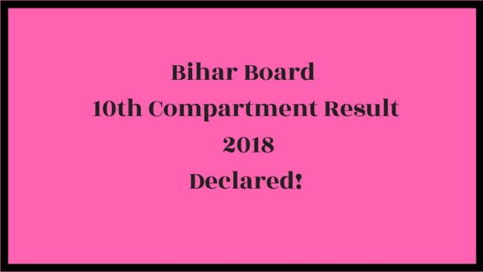 Bihar Board 10th Compartment Result 2018