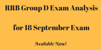 RRB Group D Exam Analysis for 18 September Exam