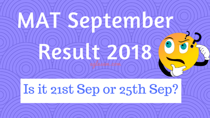 MAT September Result 2018