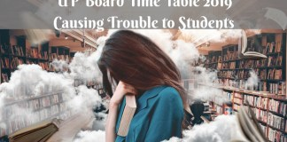 UP Board Time Table 2019 Causing Trouble to Students