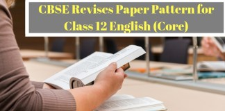 CBSE revises paper pattern for Class 12 English (Core)