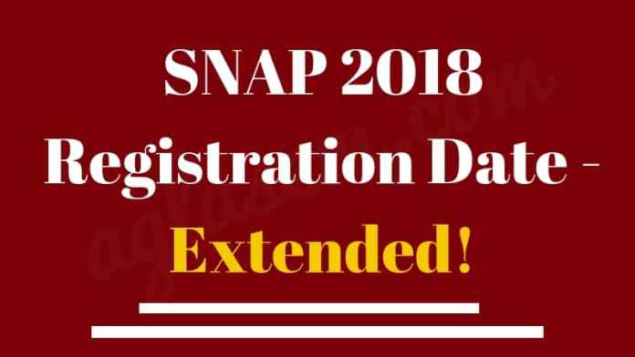 SNAP 2018 Registration Date Extended