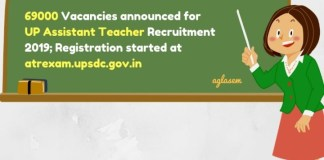 69000 UP Assistant Teacher Vacancy