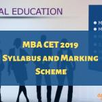 MBA CET 2019 Syllabus and Marking Scheme