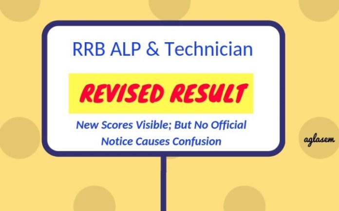 RRB alp revised result 2018