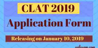 CLAT 2019 Application form