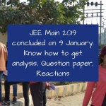 JEE Main 2019 9 January