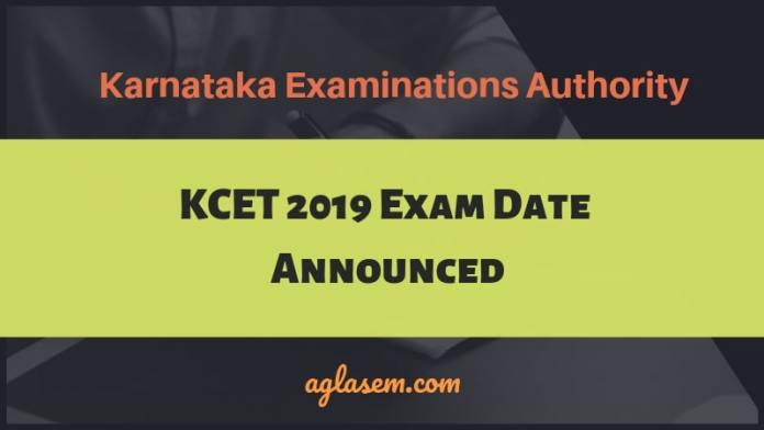 KCET 2019 Exam Date Announced