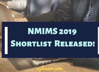 NMIMS Shortlist Released for Admission 2019-21