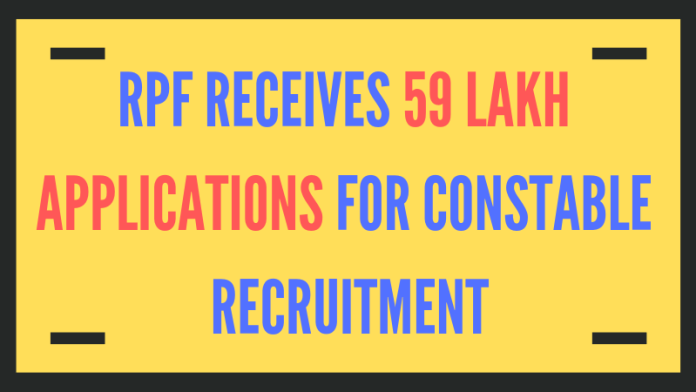 RPF receives 59 Lakh Applications for Constable