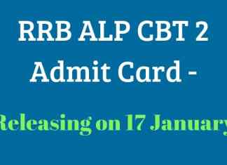 RRB ALP CBT 2 Admit Card 2019