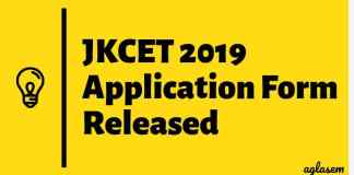JKCET 2019 Application Form Released-Aglasem