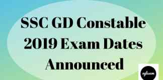 SSC GD Constable 2019 Aglasem