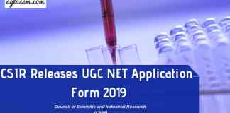 CSIR UGC NET Application Form 2019 Aglasem